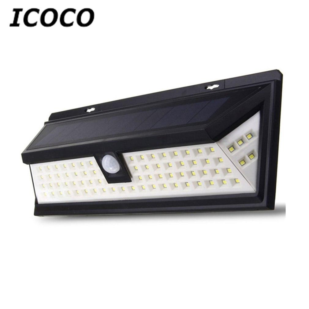 ICOCO Impermeabile 80 LED Solar Security Luce Motion Sensor Illuminazione Esterna Senza Fili Ultra-Luminoso per Vialetto Yard Patio Deck