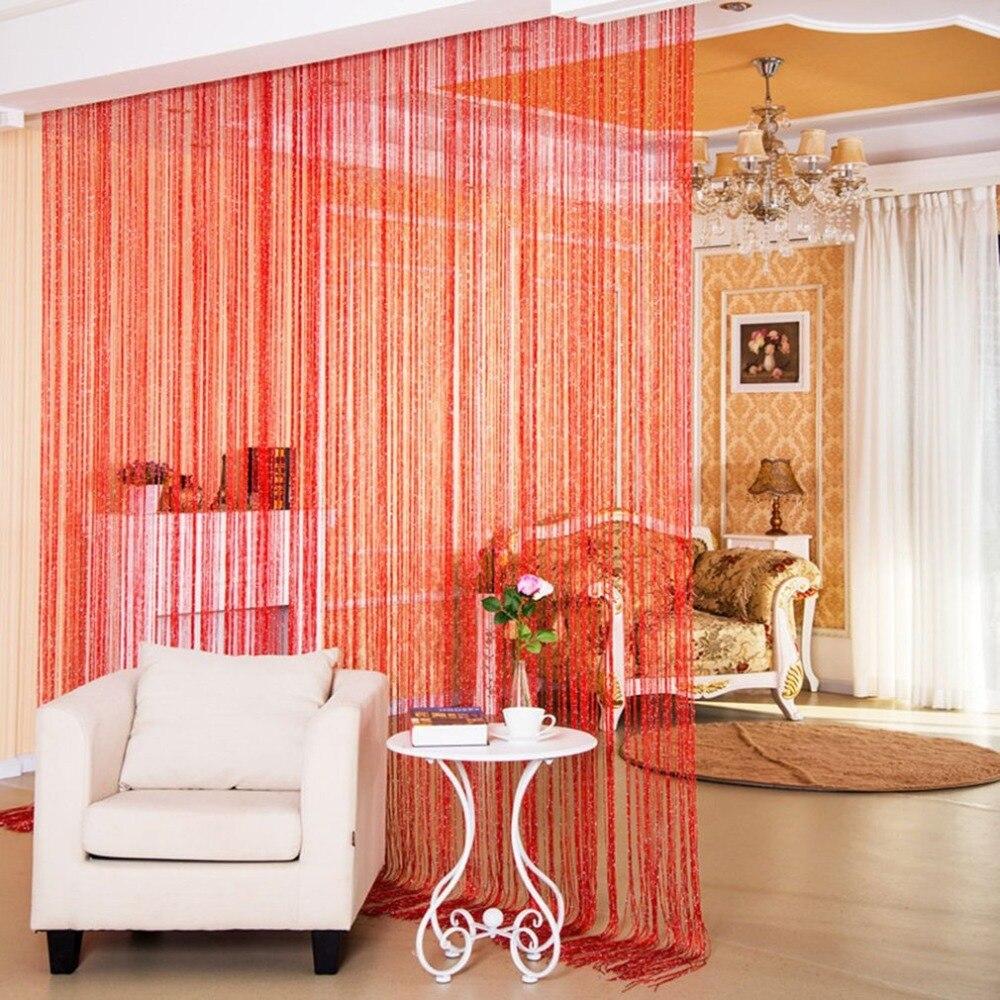 200cm*100cm Shiny Tassel Flash Line String Curtain Window Door Divider Room Divider Home Hotel Door Window Decorations