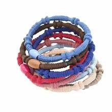 80 Pçs/lote Goma de Mulheres Beads Faixa de Cabelo Corda Laço Scrunchie Rabo de Cavalo Titular Acessórios Para o Cabelo Elástico Headbands Headwear