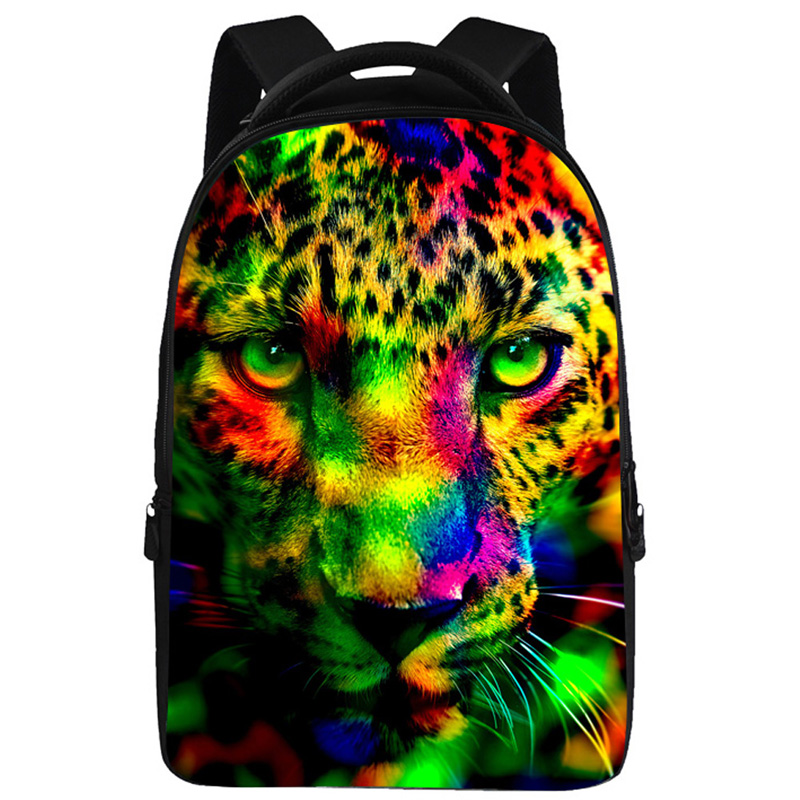 18 Inch Galaxy Animal Face Print Casual School Backpack Travel Bag Fit 15 Inch Laptop school bag travelling casual backpack 9295 character print graphic gradient color