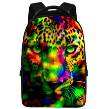 18 Inch Galaxy Animal Face Print Casual School Backpack Travel Bag Fit 15 Inch Laptop