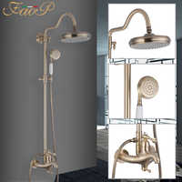 FAOP Shower system gold bathroom shower mixer faucet for bathroom shower set luxury waterfall bathroom faucets shower mixer