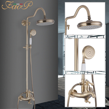 FAOP Shower system gold bathroom shower mixer faucet for set luxury waterfall faucets