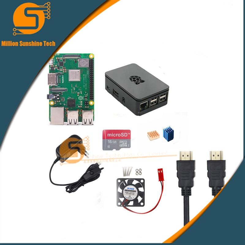 Raspberry pi 3B+/module ++16GB/32GB+ Heat sink+ fan+ Case +5V 3A power+HDMI cable for Raspberry pi 3 B+ free shipping free shipping new ph300f280 24 ph300f280 24 pi module