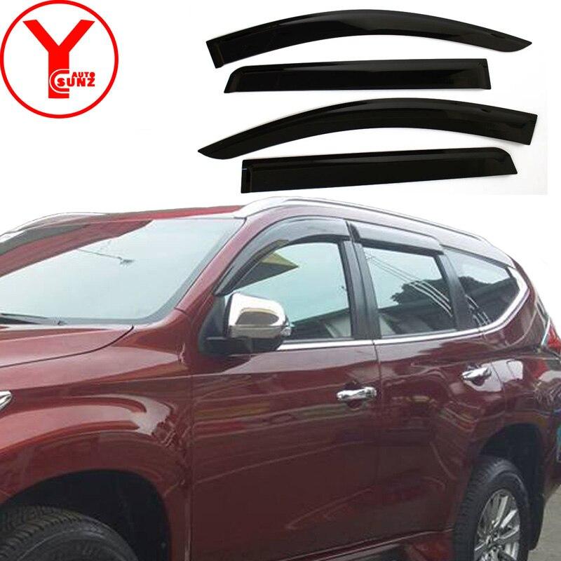Côté fenêtre déflecteur voiture pare-brise vent protecteur pour mitsubishi pajero sport montero Shogun 2016 2017 2018 accessoires YCSUNZ