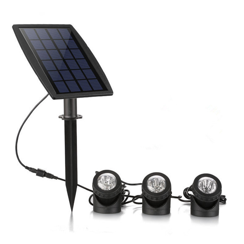 Solar Pool Light <font><b>Luz</b></font> <font><b>Sumergible</b></font> Solar Piscina <font><b>Led</b></font> RGB Underwater Outdoor Garden Party Waterproof <font><b>Led</b></font> 12v 3M 6LEDs Submersible image