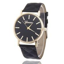 цена на New Fashion Brand Watches Geneva Men Women Casual Quartz Watch faux Leather Wristwatch Relogio feminino Montre Femme Hot Sale