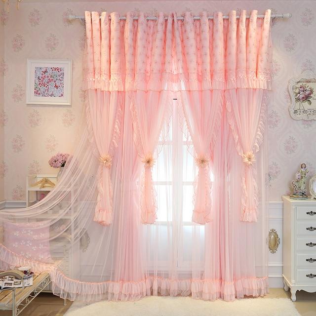 SunnyRain 2 Piece Rose De Luxe Rideaux Princesse Style Rideau Pour ...