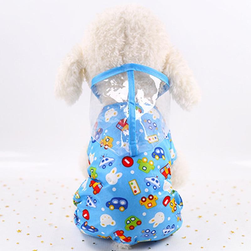 Pet Clothes Transparent Pet Dogs Raincoat PVC Waterproof Rain Coat Pets Small Dog Raincoats Clothing Small Dogs Clothing