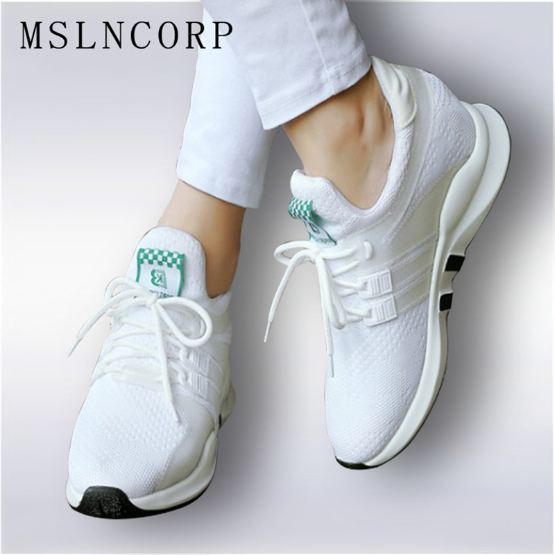 Size 34-45 four seasons Women casual shoes fashion Mixed colors breathable Walking mesh lace up flat shoes sneakers tenis shoes mwy women breathable casual shoes new women s soft soles flat shoes fashion air mesh summer shoes female tenis feminino sneakers