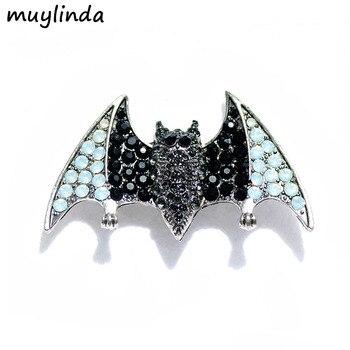 Muylinda Bat Crystal Man broszka kołnierz Pin Rhinestone kobiety mężczyzna broszki biżuteria broszka szalik garnitur broszka Pins Muylinda