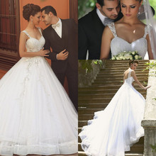 GOOFLORON Wedding Dresses Ball Gown Bridal Gowns
