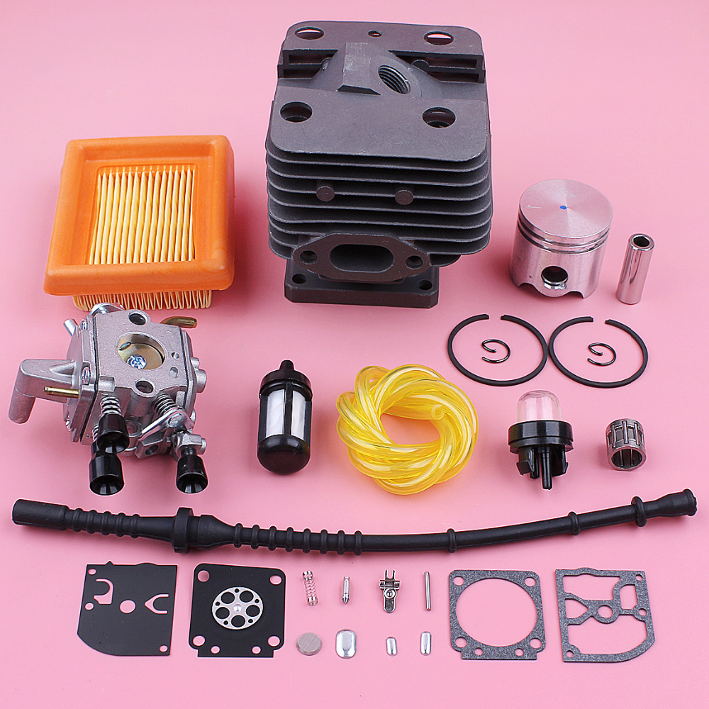 35mm Cylinder Piston Carburetor Repair Kit For Stihl FS120 FS200 FS250 Air Fuel Filter Line Hose Trimmer Engine Replace Part