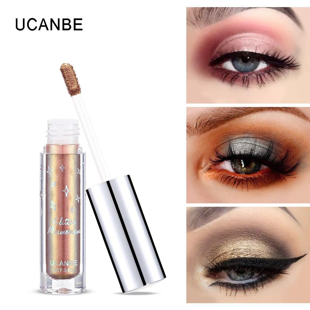 Ucanbe Flash Shimmer Eyeshadow Gold Silver Blue Rainbow Highlight Cream Waterproof Long Lasting Liquid Metallic Eyeshadow Au046 Eye Shadow