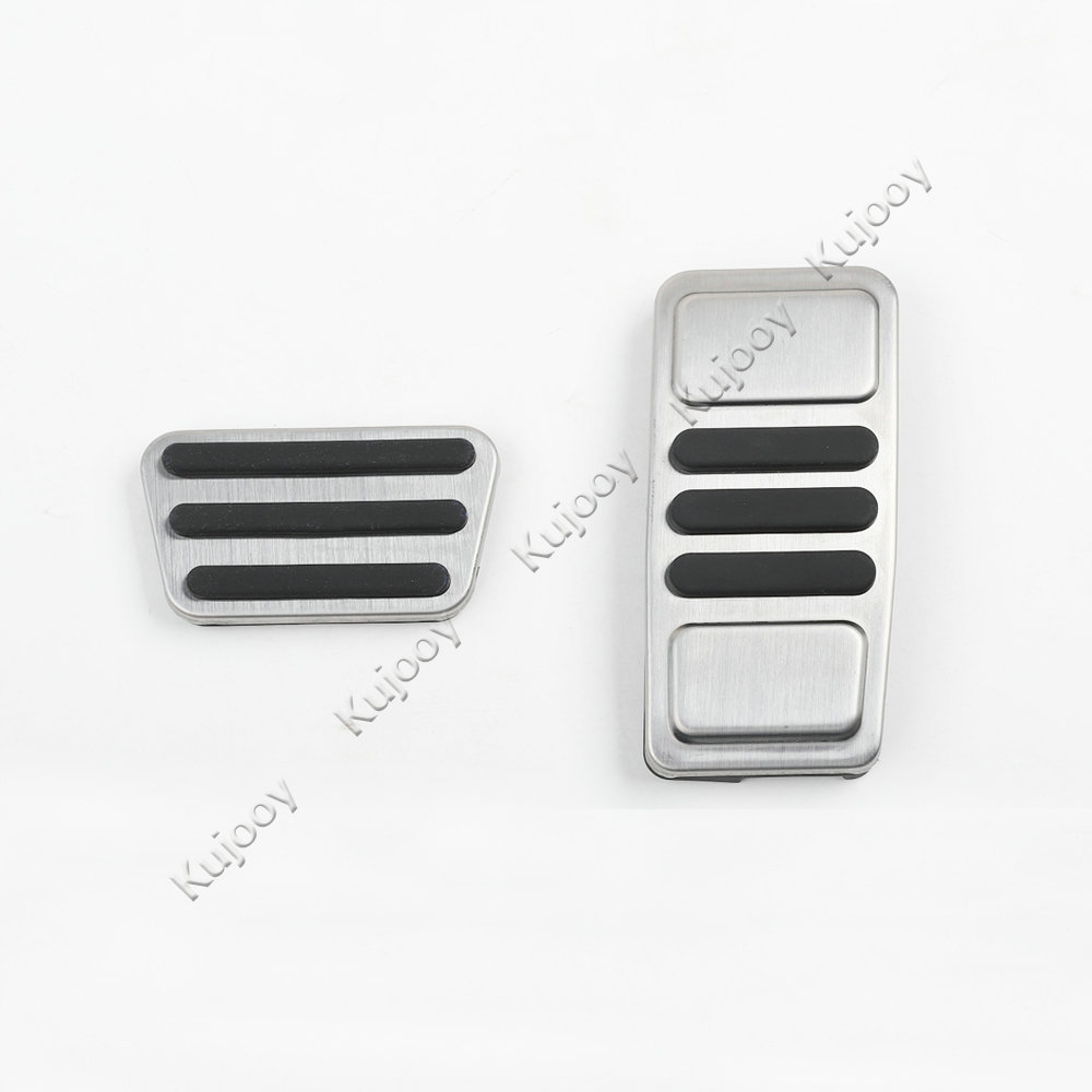 2 pièces en Métal antidérapant Sport Carburant Gaz Pédale De Frein Plaquettes Couverture Pour Ford Mustang 2017 + Version USA