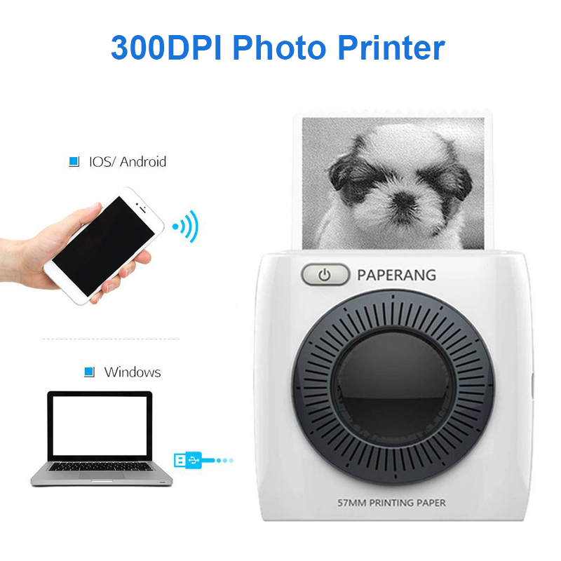 Mini Photo Printer Portable Bluetooth Mobile Printer Handheld Thermal Label Sticker Printer 300dpi for Android IOS WindowsMini Photo Printer Portable Bluetooth Mobile Printer Handheld Thermal Label Sticker Printer 300dpi for Android IOS Windows
