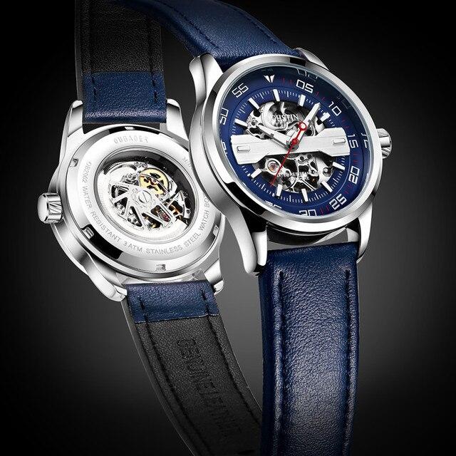 Ochstin Топ Элитный бренд мода автоматический Деловые часы Для мужчин часы Relogio masculino спорт Бизнес наручные часы мужской часы