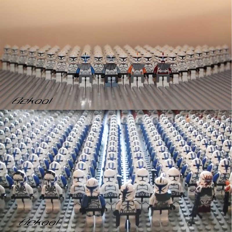 Star Wars Sw910 Clone Trooper Commander Utapau Compatibel Legoe Sw522 Sw523 212th Elite Legioenen 501st Kid Speelgoed 21 Stks/partij