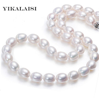 YIKALAISI 2017 Classic Drop Water Natural Pearl Choker Necklace For Women Fashion 925 Sterling Silver Jewelry