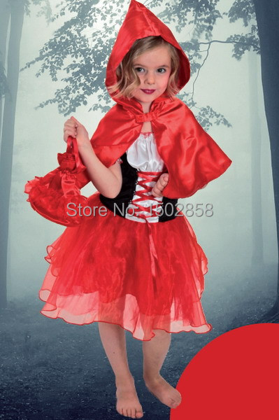 retail free shipping Performance girl costume little Red Riding Hood dress cloak bag 3pcs costume kits carnival Fiesta A1501202 free shipping wholesale retail sa212 saddle bag motorcycle side helmet riding travel bags rain cover one pair