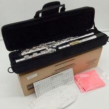 MFC Японии промежуточных стандартов флейты MFCFL-471 с позолоченными держатель для губ флейта посеребренные 17 отверстий открытое отверстие