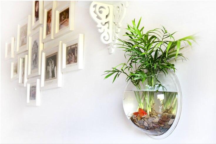 Aquarium suspendu Transparent acrylique créatif de réservoir de poissons