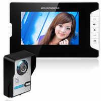 Alpinone 7 pouces vidéo porte téléphone sonnette interphone Kit sonnette filaire vidéo interphone système couleur moniteur et HD porte caméra
