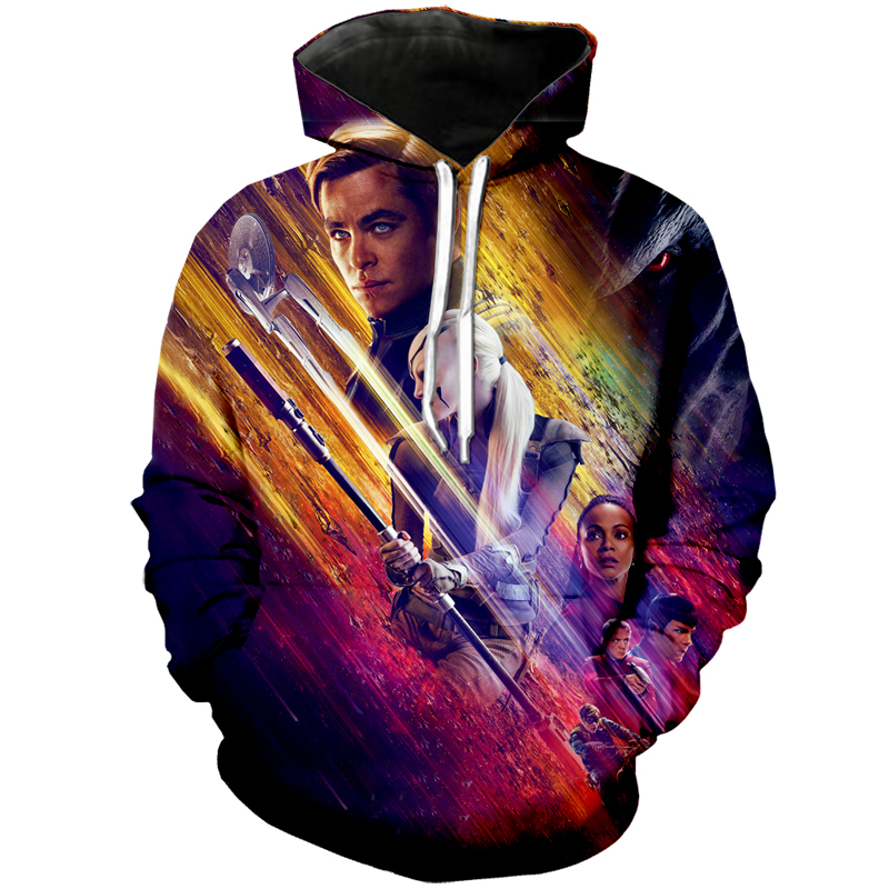 Star Trek 3D Hoodie Cool Hip Hop Print Sweatshirt Fashion Movie Super Hero Hooded Women/Men Sweatsuits Tops Jacket Drop shipping image