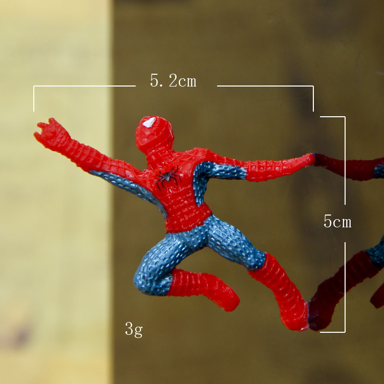 6Pcs Red Spiderman action figures toy versions for kids 2016 New ...