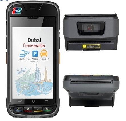 CENTER COMMERCIAL emv barcode scanner NFC IC lecteur de Carte Carte À Puce lecteur android de poche pos terminal