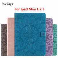 "Wekays For Apple Ipad Mini 1 2 3 Sun Flower Smart Leather Flip Case For Coque IPad Mini 1 2 3 Mini2 Mini3 7.9"" Tablet Cover Case"