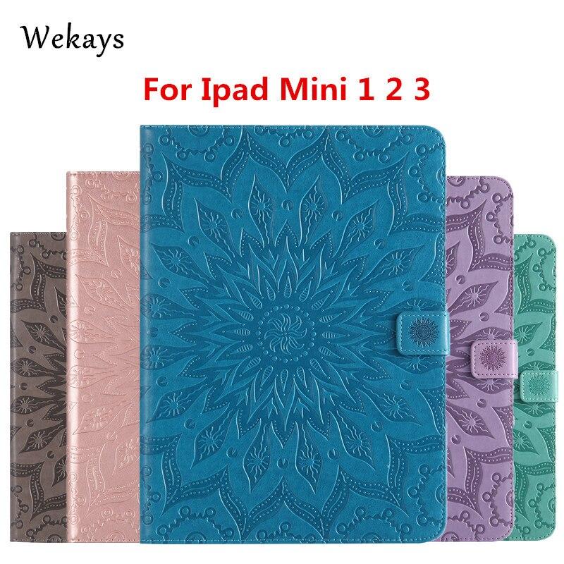 Wekays For Apple Ipad Mini 1 2 3 Sun Flower Smart Leather Flip Case For Coque IPad Mini 1 2 3 Mini2 Mini3 7.9 Tablet Cover Case