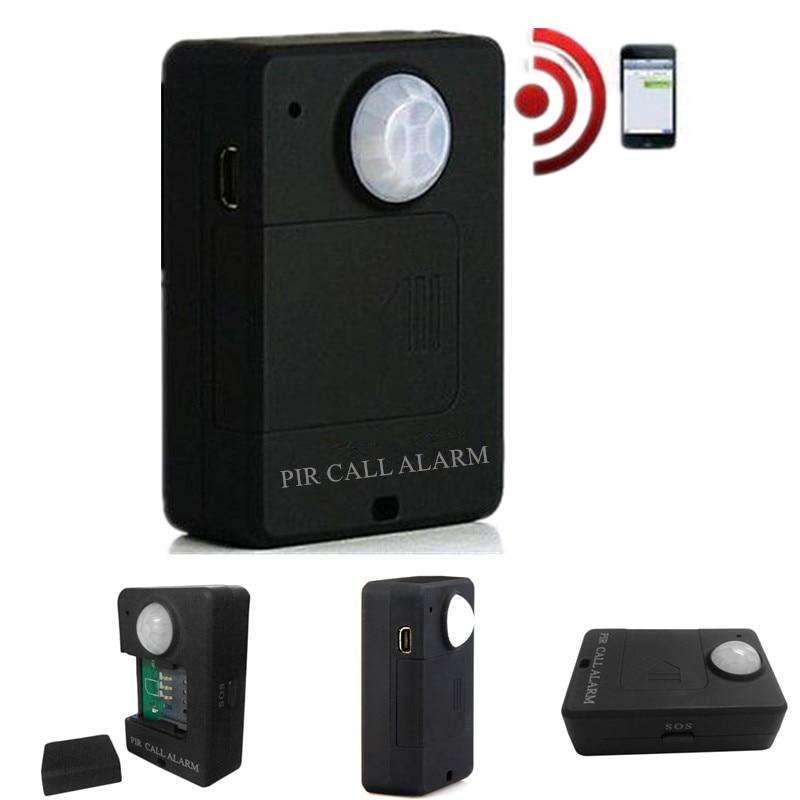Detector de movimiento antirrobo Mini GSM PIR alarma Alarma de sensor de movimiento inalámbrico infrarrojo GSM alarma con enchufe europeo de alta sensibilidad