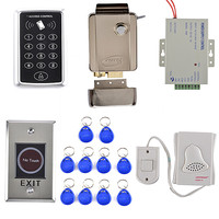 Stronger Electric Door Lock 125KHZ RFID KeyPad Card Access Control System Kit DoorBell Remote Control Good
