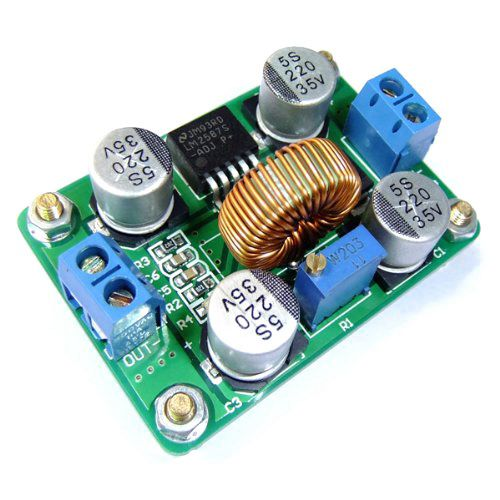 DC-DC Adjustable LM2587 Boost Regulator Step-up Power Converter Power Supply Module Board with High Power Terminal for Solar Pan