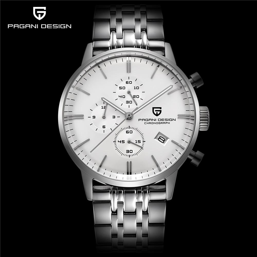 2018 Для мужчин s часы лучший бренд класса люкс Pagani Бизнес Нержавеющаясталь кварцевые часы Для мужчин Спорт Водонепроницаемый часы Relogio Masculino