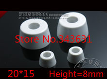 100Pcs 20 x 15mm White Durable Rubber Instrument Case Non-slip Cabinet Instrument Box Case Foot Bumpers Feet(China)