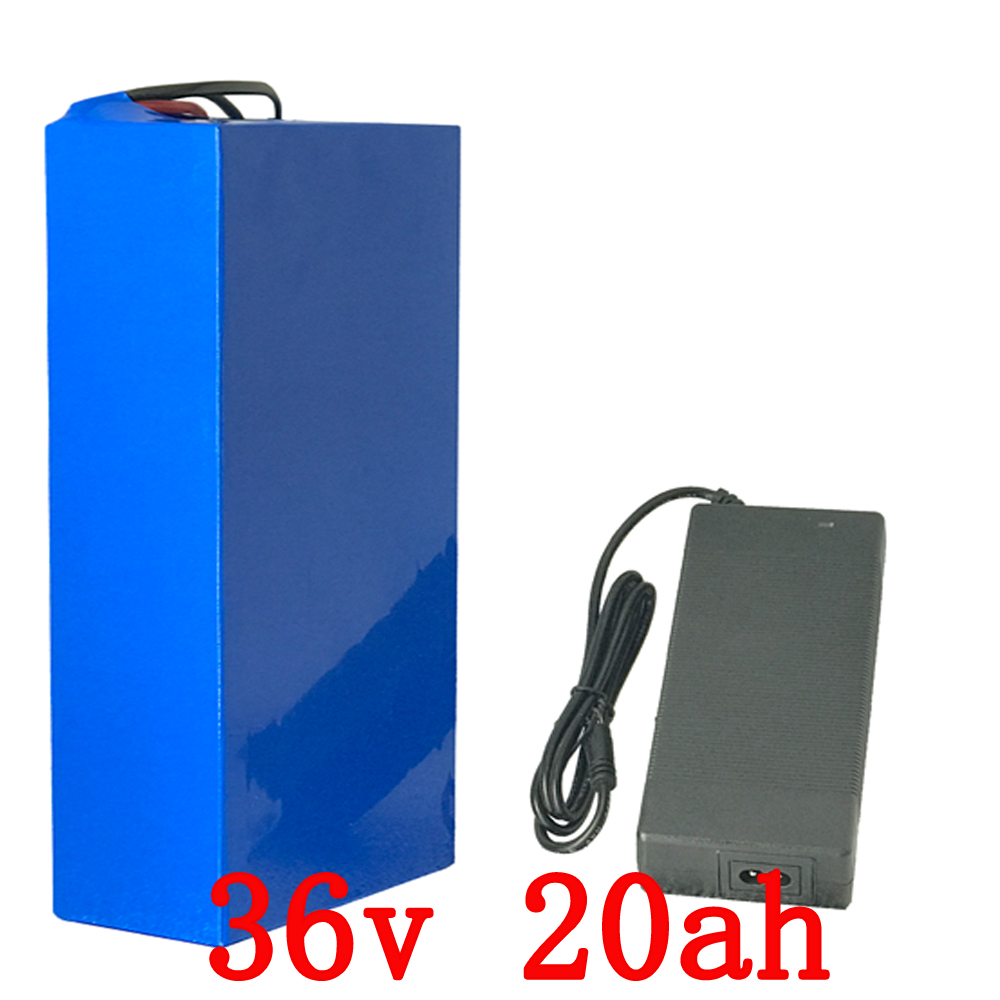 Wholesale 2PCS/LOT 1000W 36V 20AH Lithium ion battery 36V 20AH Electric Bike battery with PVC case 30A BMS 42V 2A charger no taxe electric bike 36v 12ah battery with free 42v 2a charger 36v 12a electric bicycle li ion battery 36v 500w lithium battery