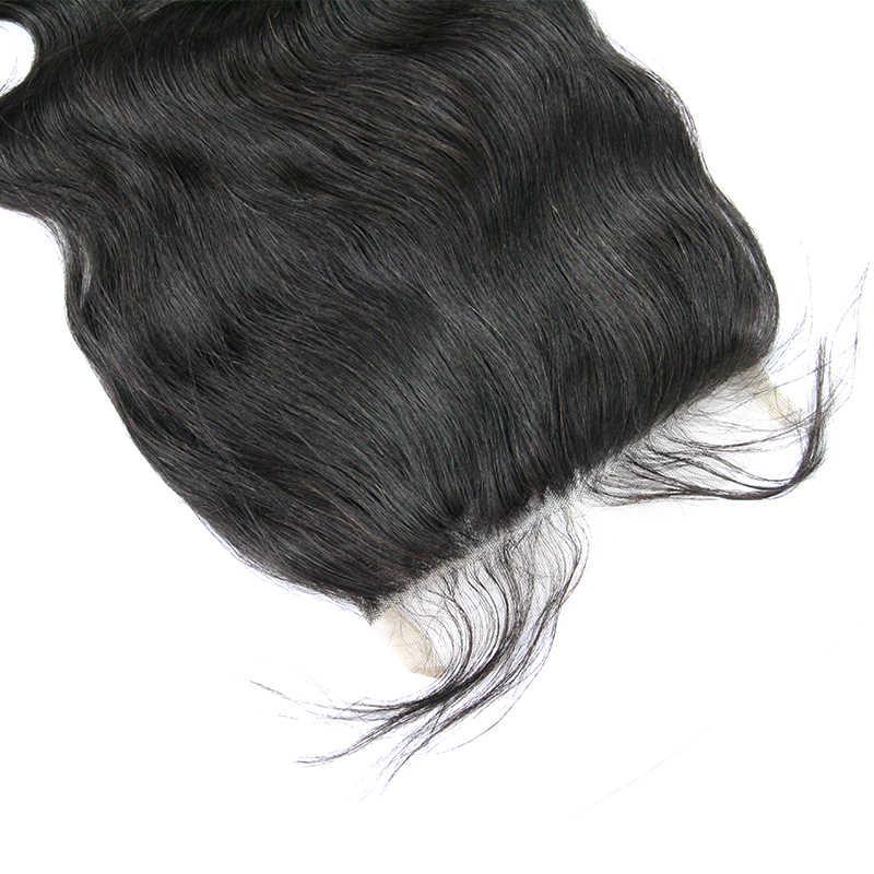 6x6, кружевное закрытие, объемная волна, бразильские виргинские волосы, свободная часть, накладные волосы, необработанные человеческие волосы для наращивания, Berrys Fashion