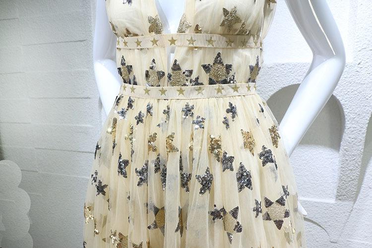 HTB1ohWdPFXXXXanapXXq6xXFXXX6 - Summer Dress  Star Beads Jacobs Deep V JKP064