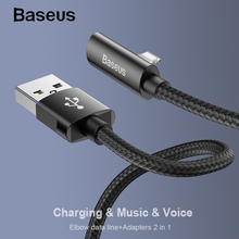 Baseus 2 in 1 USB Cable Fast Charger Cable for iPhone Xs XR X 8 7 iPad Fast Charging Cable for USB Lighting Charger Wire Cord