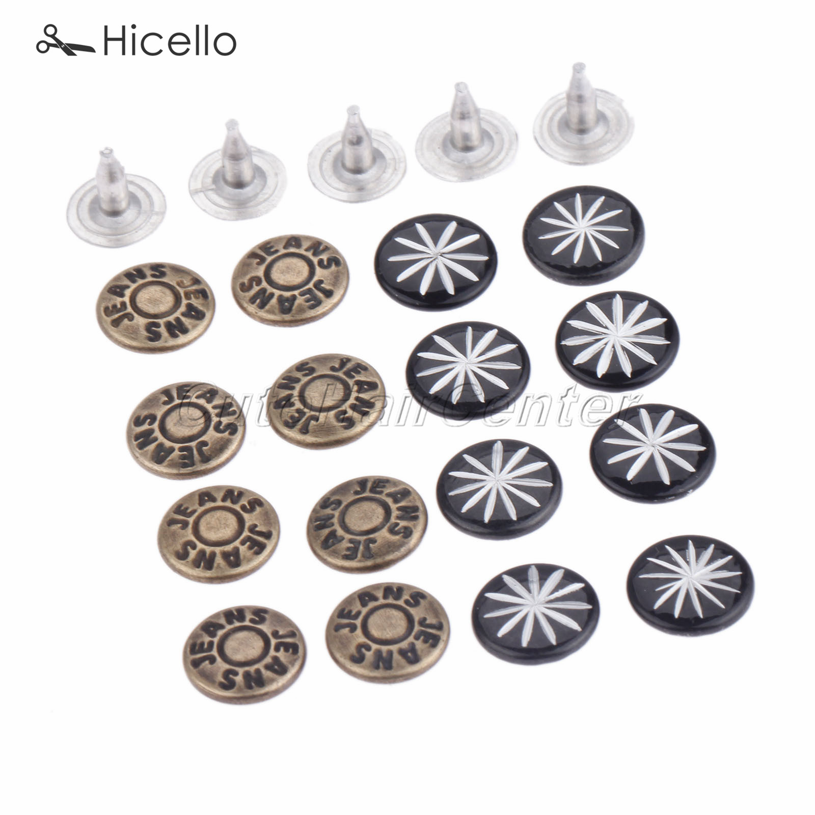 Learned 100sets Rivets Fasteners Studs Button With Nails Metal 9mm Bronze Black For Jeans Clothing Bags Boots Decoration Hicello Unequal In Performance Apparel Sewing & Fabric Buttons