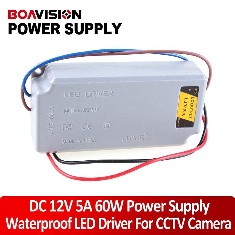 60W LED Driver Power Supply 85-250V To 20-38V Waterproof OutDoor 12v power adapter/cctv power ac 85v 265v to 20 38v 600ma power supply driver adapter for led light lamp