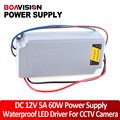 60W LED Driver Power Supply 85-250V To 20-38V Waterproof OutDoor 12v power adapter/cctv power