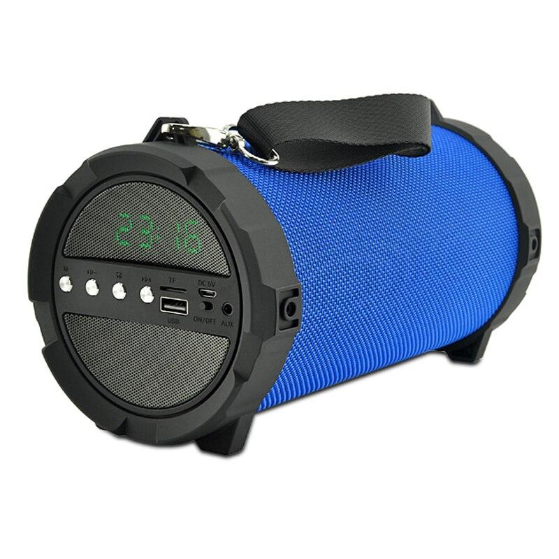 Outdoor Super bass Wireless Bluetooth Speaker 10W Carry Shoulder Stereo surround Subwoofer speaker bluetooth radio clock speaker exrizu ms 136bt portable wireless bluetooth speakers 15w outdoor led light speaker subwoofer super bass music boombox tf radio
