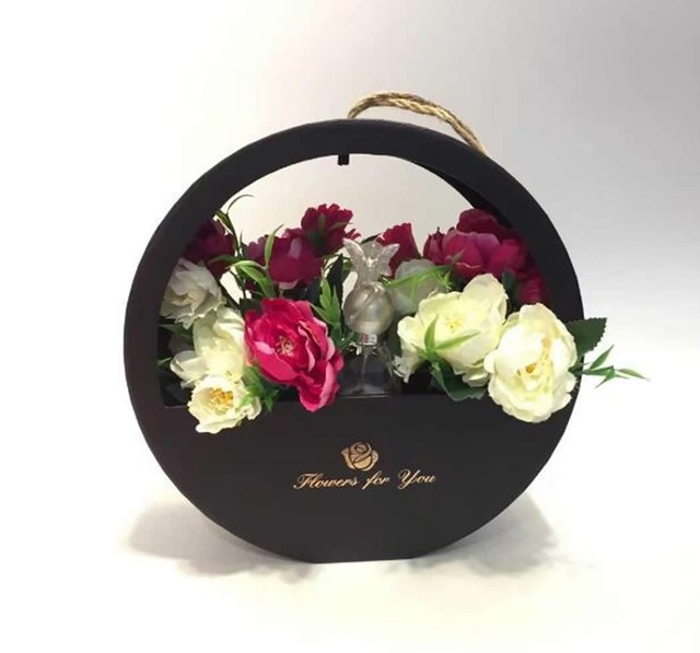 Portable Round Window Soap Florist Packiing Flower Gift