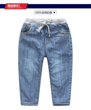 Free shopping 2016 winter jeans For Children Kids Pant  high quality, wholesale and retail of blue jeans velvet for 2-9T