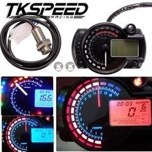 FREE SHIPPING 15000rpm Modern Motorcycle Digital Light LCD Digital Gauge Speedometer Tachometer Odometer Adjustable