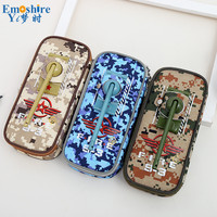 Three color Camouflage Student Pencil Bag Wholesale Creative Tank Shape Portable Student Stationery Storage Bag Pencil Case B337