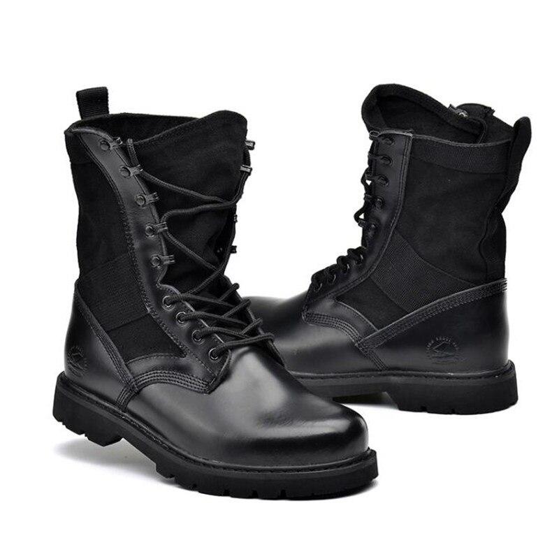 Táticas 35 Novos khaki Dos Ar 46 black preto Add Ao Do Wool Livre Tamanho Deserto Wool De Bege Genuíno Ferramentas Homens Botas Couro Exército Combate aqxAXarRw